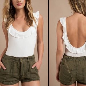 "Free People Shorts ""moss color"""